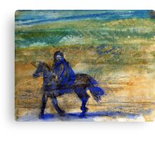 Horse and rider Canvas Print
