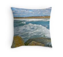 Port Maitland Beach III Throw Pillow