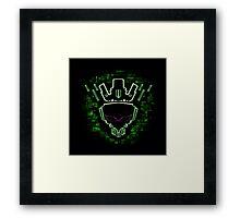 The Glitch King - Green Variant Framed Print