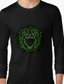 The Glitch King - Green Variant Long Sleeve T-Shirt