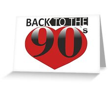 Back to the 90s Logo Greeting Card