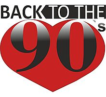 Back to the 90s Logo Photographic Print