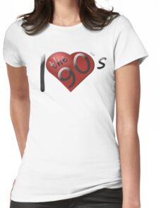 I love the 90s Logo Womens Fitted T-Shirt