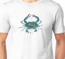 Blue Crab Watercolor Unisex T-Shirt