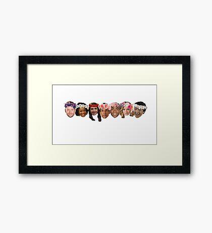 The Greendale Seven Framed Print