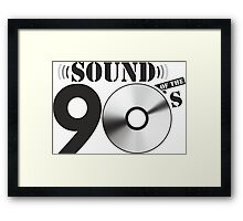 Sound of the 90s Logo Framed Print