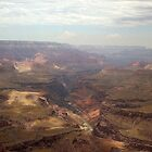 Shadows over Grand Canyon & View of Colorado River by David  Hughes