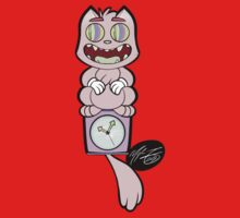 Trippy Cat Clock - Flat Colour Variation Kids Tee