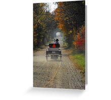 A fall drive down a country road Greeting Card