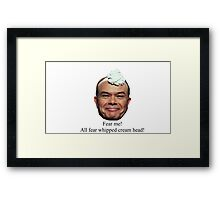 Red Forman - Whipped Cream Head Framed Print