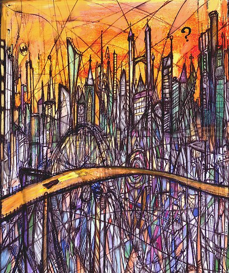 The Road to Gotham City (2004) by Beric Henderson