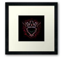 The Glitch King Framed Print