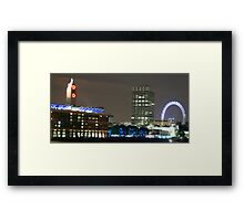 London Eye and Oxo Tower by night Framed Print