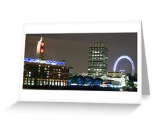 London Eye and Oxo Tower by night Greeting Card