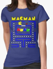 Mac-Man Womens Fitted T-Shirt