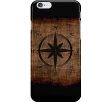 Nostalgic Old Compass Rose Design iPhone Case/Skin