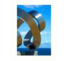 Chrome spirals Art Print