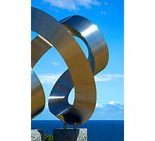 Chrome spirals Photographic Print