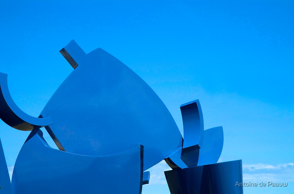 Blue on blue by Antoine de Paauw