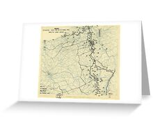 World War II Twelfth Army Group Situation Map October 22 1944 Greeting Card