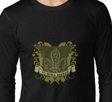 Grunge Fleur-de-lis Crest Long Sleeve T-Shirt