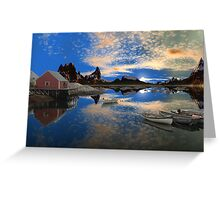 Tranquility Harbor -Twin Suns Greeting Card
