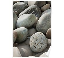Beach rocks Poster