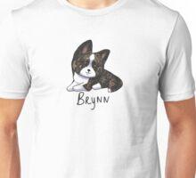 Brindle Cardigan Corgi with Name Unisex T-Shirt