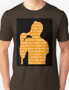 brandon flowers - smile like you mean it silhouette (black) Unisex T-Shirt