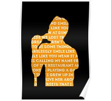 brandon flowers - smile like you mean it silhouette (black) Poster