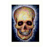 brick lane graffiti skull Art Print