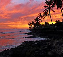 Ewa Beach, Hawai'i  Sunset by Clark Thompson