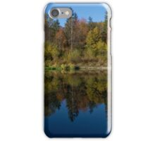 Autumn reflections on the water - Kiczyce, Poland iPhone Case/Skin
