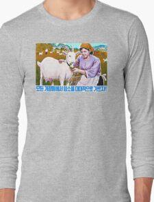 North Korean Propaganda - Goat Long Sleeve T-Shirt