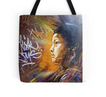 brick lane graffiti golden child Tote Bag