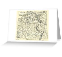 World War II Twelfth Army Group Situation Map March 11 1945 Greeting Card