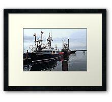 The Commercial Fleet at Point Judith RI [2] Framed Print