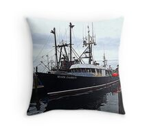 The Commercial Fleet at Point Judith RI [2] Throw Pillow