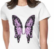 Purple Pop Art Butterly Wings T Womens Fitted T-Shirt