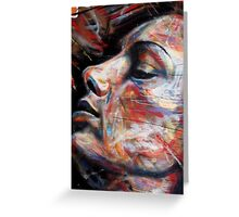 brick lane graffiti rainbow lady Greeting Card