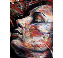 brick lane graffiti rainbow lady Photographic Print