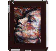 brick lane graffiti rainbow lady iPad Case/Skin
