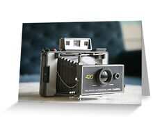 Polaroid Land Camera Greeting Card