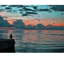 The Young Boy and the Sea Photographic Print