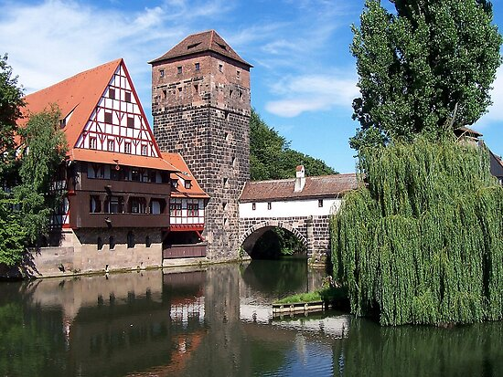 Nürnberg with Pegnitz River by TrixiJahn