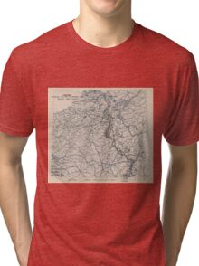 World War II Twelfth Army Group Situation Map January 22 1945 Tri-blend T-Shirt