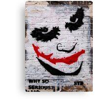 brick lane graffiti joker Canvas Print