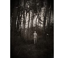 In the forest (black and white) Photographic Print