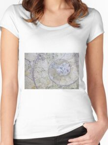 Section through an ammonite Women's Fitted Scoop T-Shirt