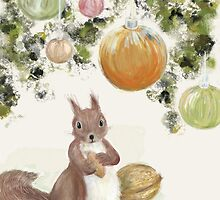 Red Squirrel by LittleCloudShop